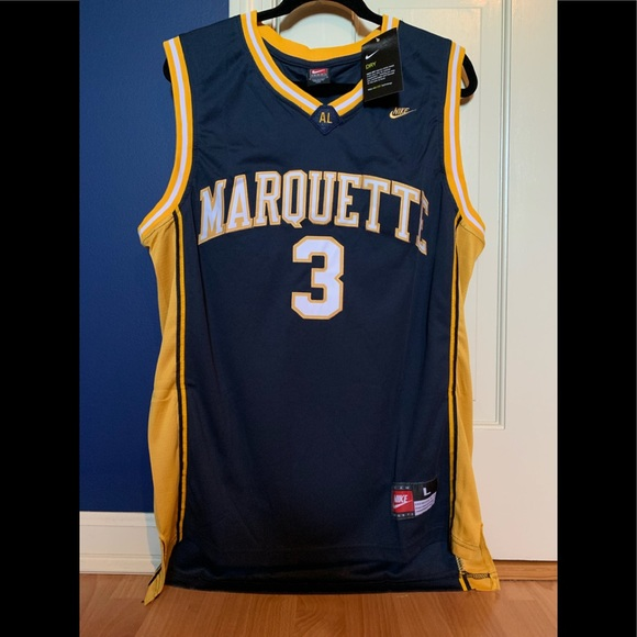 size 40 2b586 a96cf Dwyane Wade Marquette Jersey NWT